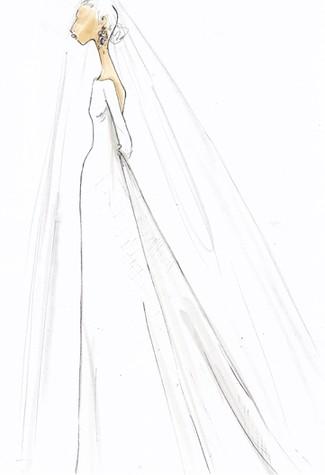Kate Middleton Wedding Dress Sketches