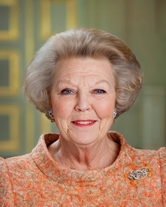 Her Royal Highness Princess Beatrix of the Netherlands Attends a Concert in Rotterdam.