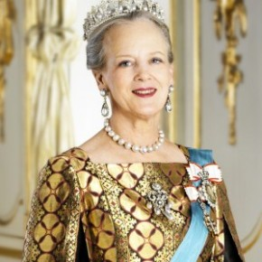 HM Queen Margrethe II of Denmark Holds a Press Conference.