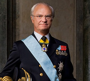 His Majesty King Carl XVI Gustaf of Sweden in Uppsala.