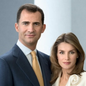Their Royal Highnesses Prince Felipe and Princess Letizia of Asturias Attend an Award Ceremony.