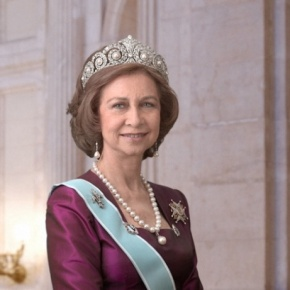 Her Majesty Queen Sofia of Spain Attends an Inauguration in Madrid.