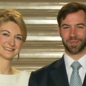 Their Royal Highnesses Hereditary Grand Duke Guillaume and Hereditary Grand Duchess Stéphanie of Luxembourg Visit the Luxembourg AirRescue.