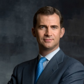 His Royal Highness Prince Felipe of Asturias Attends a Meeting.