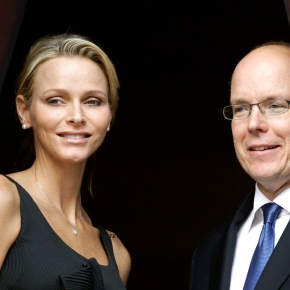 TSHs Prince Albert II and Princess Charlene of Monaco Attend Ceremony.(VIDEO)