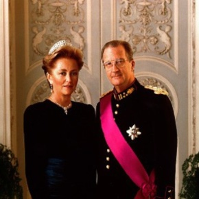 Their Majesties King Albert II and Queen Paola of Belgium Host a Reception.