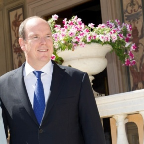 TSHs Prince Albert II and Princess Charlene of Monaco Attend an Inauguration.