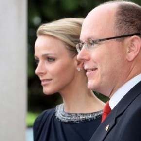 Their Serene Highnesses Prince Albert II and Princess Charlene of Monaco Visit l'Eglise Sainte Dévote. (VIDEO)