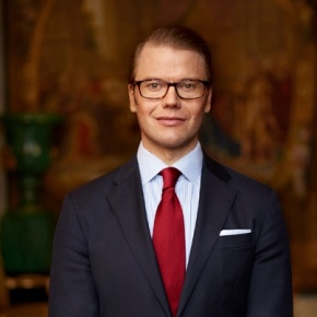His Royal Highness Prince Daniel of Sweden Attends a Conference.
