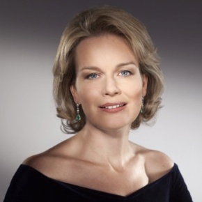 Her Majesty Queen Mathilde of Belgium Attends a Ceremony at the Palais des Académies.
