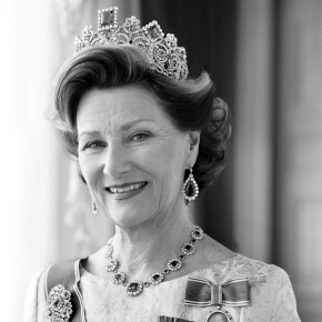 Her Majesty Queen Sonja of Norway Opens an Exhibition in London.