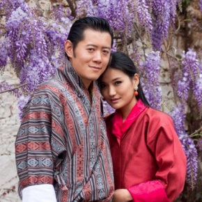 Their Majesties King Jigme Khesar Namgyel Wangchuck and Queen Jetsun of Bhutan Attend the Paro Tsechu.