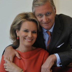 Their Majesties King Philippe and Queen Mathilde of Belgium Attend an Evening Concert.