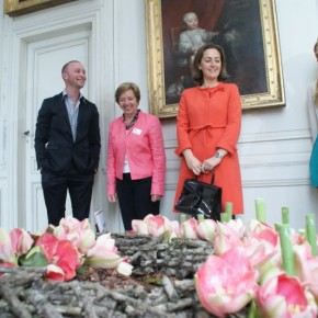 Her Royal Highness Princess Claire of Belgium Visits Château de Beloeil.