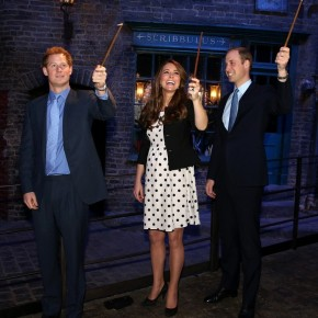 TRHs The Duke and Duchess of Cambridge and HRH Prince Harry of Wales Attend the Opening of the New Warner Bros Studios in Leavesden. (VIDEOS)