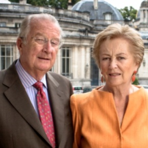 TMs King Albert II and Queen Paola of Belgium Host a Reception.