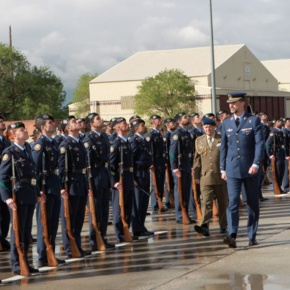 His Royal Highness Prince Felipe of Asturias Visits an Air Force Base Whilst Looking Quite Snazzy in His Uniform.