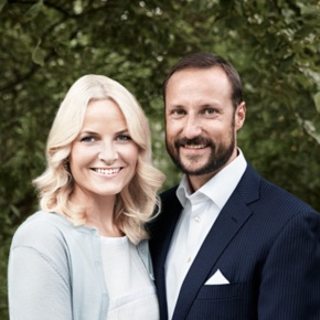 Their Royal Highnesses Crown Prince Haakon and Crown Princess Mette-Marit of Norway Host the 2014 Vismennenes Dag: En Samling for Unge Ledere.