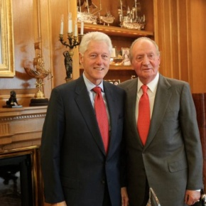 His Majesty King Juan Carlos I of Spain Had the Supreme Honor of Being in the Presence of the Former President of the United States, Mr. Bill Clinton.(VIDEO)