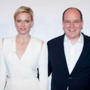 TSHs Prince Albert II and Princess Charlene of Monaco Attend a CharityBall.