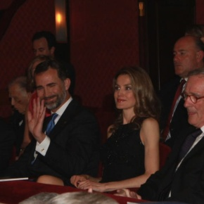 Their Royal Highnesses Prince Felipe and Princess Letizia of Asturias Watch a Performance of L'Elisir d'Amore. (VIDEO)