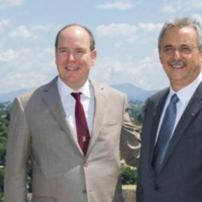 HSH Prince Albert II of Monaco Visits Haut-de-Cagnes,France.