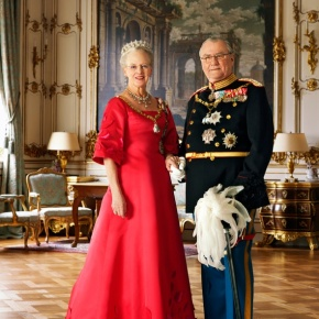 Her Majesty Queen Margrethe II and His Royal Highness Prince Henrik of Denmark Attend the Funeral of the Late Countess Anne Dorte of Rosenborg.