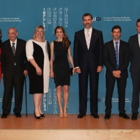 Their Royal Highnesses Prince Felipe and Princess Letizia of Asturias Attend the 2013 Premios Fundación Príncipe de Girona.