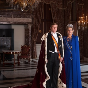 Their Majesties King Willem-Alexander and Queen Maxima of the Netherlands Attend an Award Ceremony at Paleis Noordeinde.