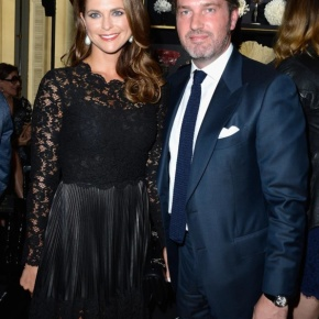 Her Royal Highness Princess Madeleine of Sweden and Mr. Christopher O'Neill in Paris, France.