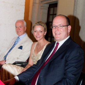 TSHs Prince Albert II and Princess Charlene of Monaco Enjoy an Evening Concert.