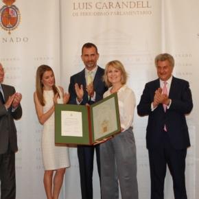 Their Royal Highnesses Prince Felipe and Princess Letizia of Asturias Attend an AwardCeremony