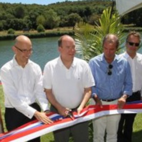 HSH Prince Albert II of Monaco Inaugurates A Water Skiing Park in France. (VIDEO)