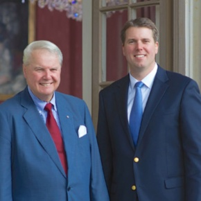 Their Highnesses Prince Andreas and Hereditary Prince Hubertus of Saxe-Coburg and Gotha Honor Members of the Schützengesellschaft Coburg.