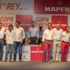 His Royal Highness Prince Felipe of Asturias Attends the 32nd Copa del Rey Audi MAPFRE Sailing Cup Award Ceremony. (VIDEO)