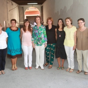 Her Majesty Queen Sofia of Spain Visits the Organization, Cáritas Mallorca.