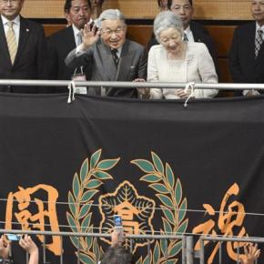 Their Imperial Majesties Emperor Akihito and Empress Michiko of Japan Attend a Boxing Competition.(VIDEO)
