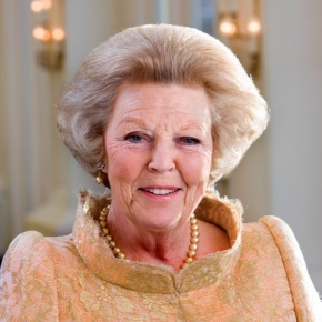 Her Royal Highness Princess Beatrix of the Netherlands Attends a Lecture in Amsterdam.