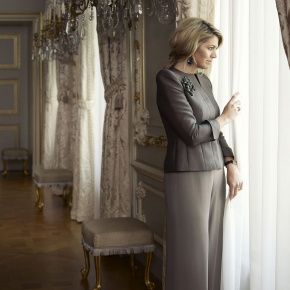 Her Majesty Queen Maxima of the Netherlands Attends a Symposium in Utrecht.