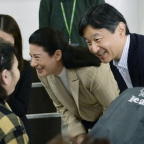 TIHs Crown Prince Naruhito and Crown Princess Masako of Japan Visit a Shelter in the Iwate Prefecture. (VIDEOS)