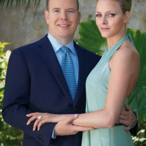 TSHs Prince Albert II and Princess Charlene of Monaco in Dallas, Texas.