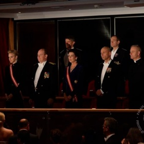 Members of the Princely Family of Monaco Attend a Gala Performance at the Grimaldi Forum.