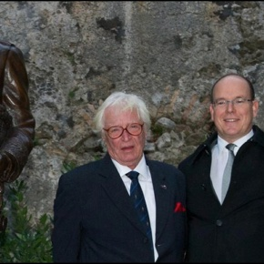 Members of the Princely Family of Monaco Unveil a New Sculpture. (VIDEO)