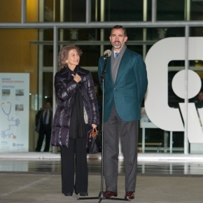 Her Majesty Queen Sofia of Spain and His Royal Highness Prince Felipe of Asturias Visit the King in the Hospital.(VIDEOS)