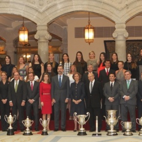 Her Majesty Queen Sofia of Spain and TRHs the Prince and Princess of Asturias Preside Over the Premios Nacionales del Deporte.