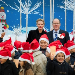 TSHs Prince Albert II and Princess Charlene of Monaco Welcome Monégasque Youths to the Palais.