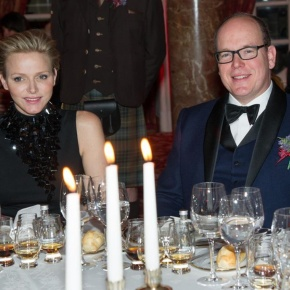 TSHs Prince Albert II and Princess Charlene of Monaco Attend the 2013 St. Andrew's Gala Dinner.
