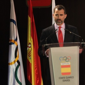 His Royal Highness Prince Felipe of Asturias Attends the  VIII Gala Anual del Comité Olímpico Español (COE).
