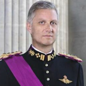 His Majesty King Philippe of Belgium Attends a Reception at the Palais de Bruxelles.