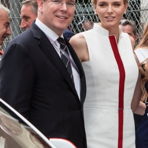 Their Serene Highnesses Prince Albert II and Princess Charlene of Monaco Enjoy the 72nd Edition of the Grand Prix de Monaco.